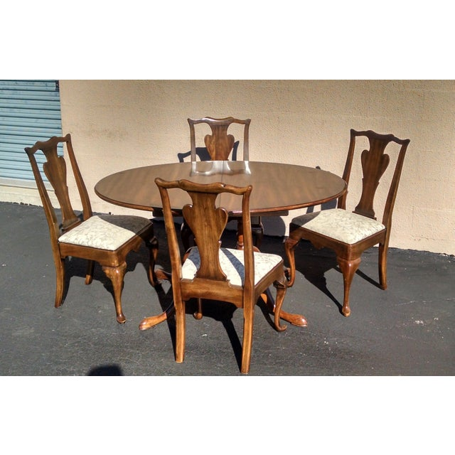 1970s Vintage Solid Cherry Dining Set - Image 2 of 6