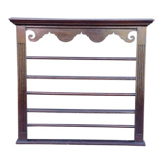 19th-Century English Oak Delft Plate Rack