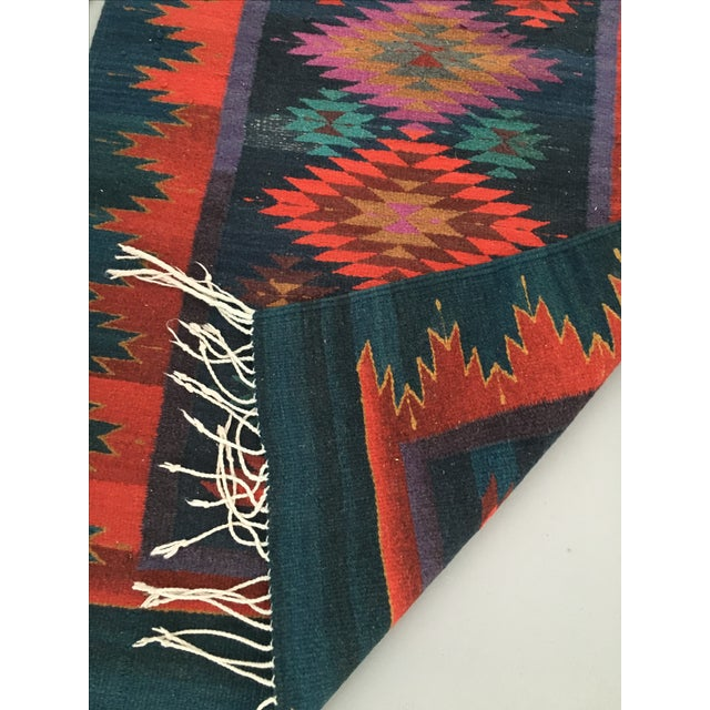 Vintage Handmade Reversible Navajo Arrows Rug - Image 8 of 8