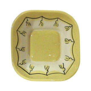 Yellow Ceramic Nut or Trinket Dish