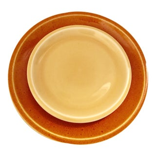 Jars of France Orange Dinner Plates & Yellow Salad Plates - 8 Pieces