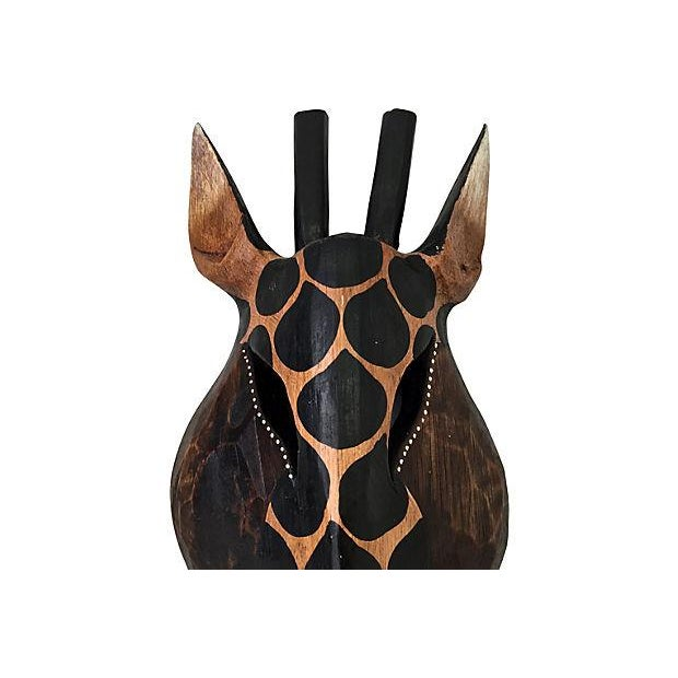 Image of Handcrafted Black & Tan Dotted Giraffe Mask