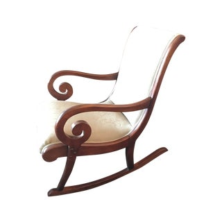 Antique Wood Spiral Rocking Chair
