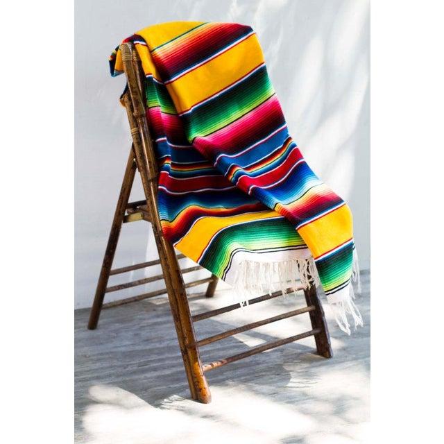 "Southwestern Striped Blanket Rug - 4'11"" X 7' - Image 3 of 5"