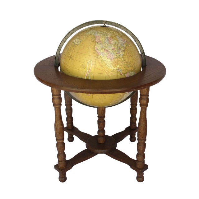 """Cram's Since 1876"" Vintage Electrified Globe - Image 1 of 6"