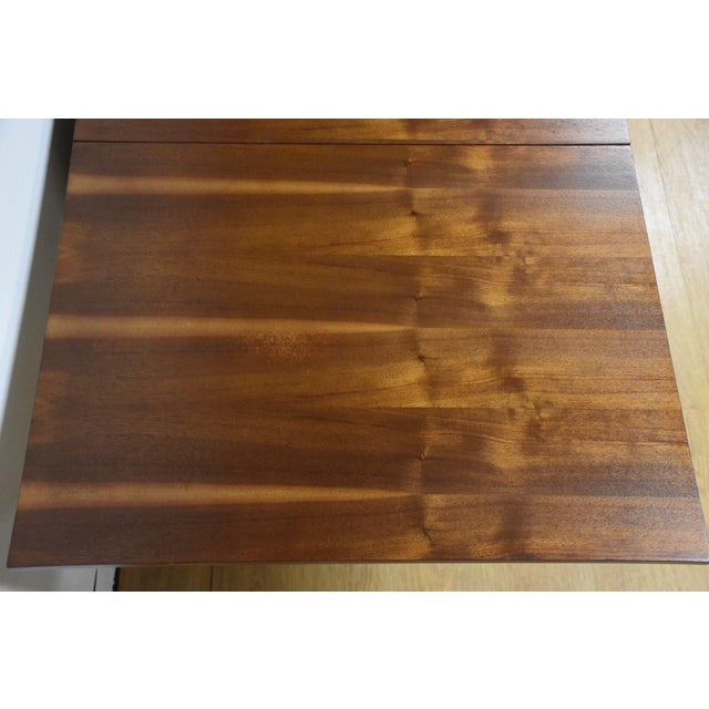 Walnut Dining Table and Self Storing Chairs - Set of 5 - Image 3 of 11