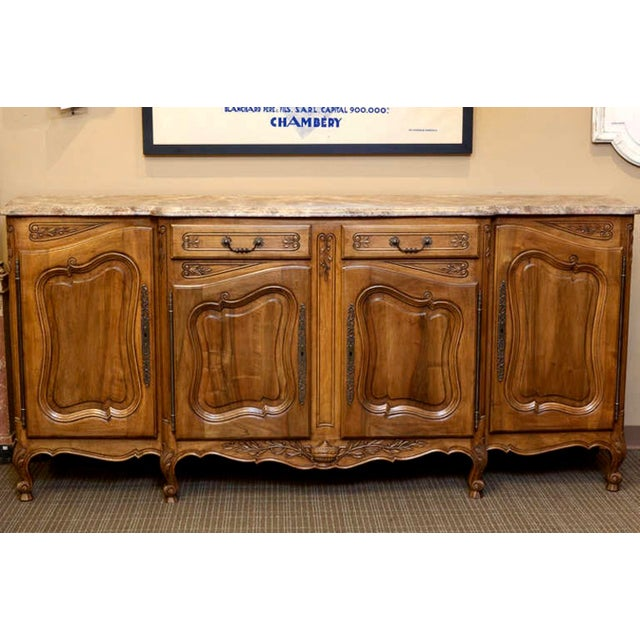 19th Century French Faux Painted Top Enfilade or Buffet - Image 5 of 7
