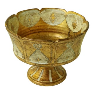 Italian Florentine Gilded Pedestal Dish