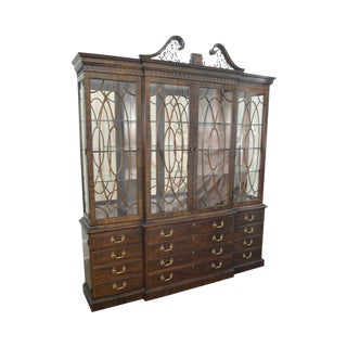 Henredon Rittenhouse Square Large Mahogany Chippendale Style Breakfront (B)