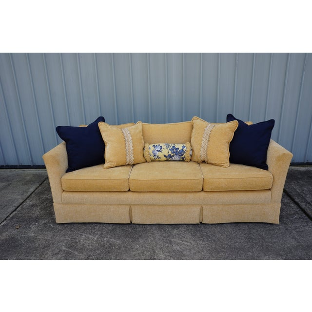 Image of Vintage Tuxedo Sofa in Butter Cream Chenille