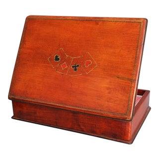 Mahogany Playing Cards Box