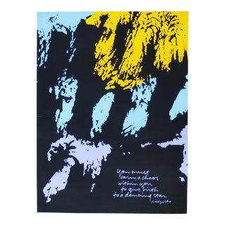 Original Dancing Star Nietzsche Quote Serigraph by Sister Mary Corita Kent