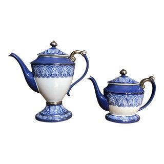 Blue & White Porcelain Teapots - A Pair