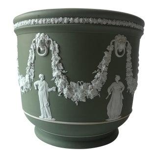 Antique Wedgwood Sage Green Jardiniere Pot