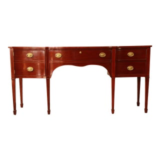 Kindel Furniture Winterthur Inlaid Mahogany Sideboard Buffet