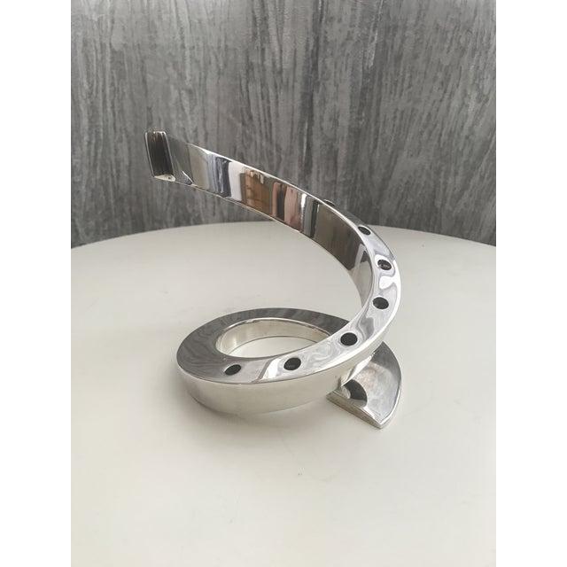 Mid-Century Dansk Spiral Chrome Candle Holder - Image 2 of 4