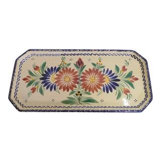 Quimper Hand-Painted Platter