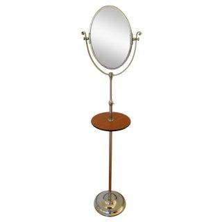 Vintage English Mirrored Pedestal Shaving Stand