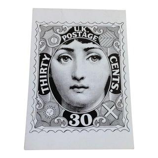 Fornasetti Lady Postage Stamp Print