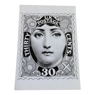 Fornasetti Lady Postage Stamp Print