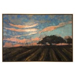 Image of Harvested Field With Oak Painting