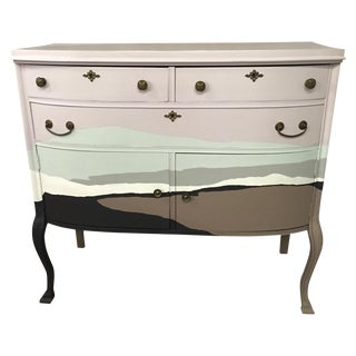 Lavender & Chocolate Painted Dresser