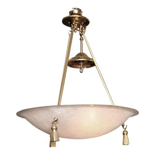 Mid-Century Textured Globe 3-Light Chandelier