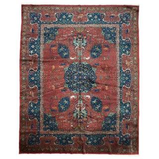 Antique Blue & Red Amritsar Rug - 10′1″ × 12′11″