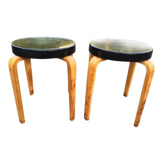 Authentic Thonet Stacking Stool Tables - A Pair