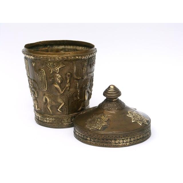 Image of Decorative Indonesian Bronze Jar