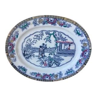 Polychromed Ashworth Ironstone Platter