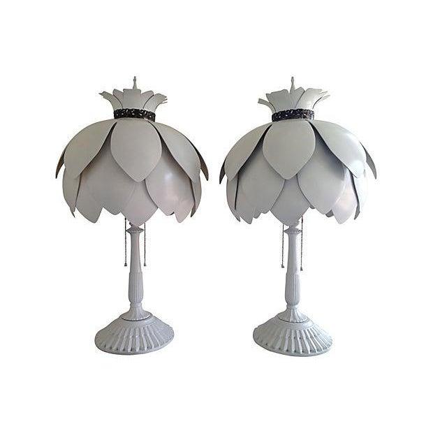 Mid-Century Artichoke Lamps - A Pair - Image 1 of 7