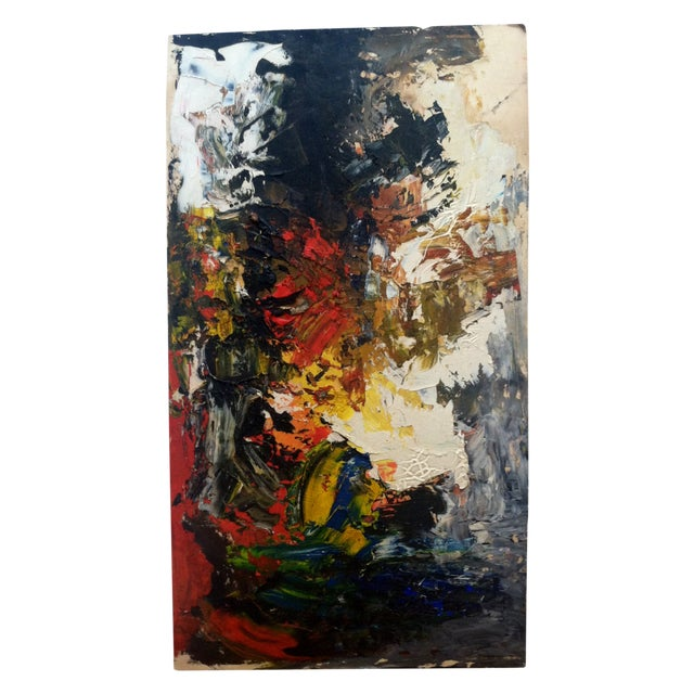 "Mid Century Abstract Painting ""Work #8"" - Image 1 of 5"