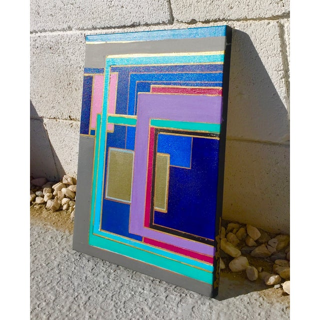 Bryan Boomershine 'Modern Block Series' Painting - Image 3 of 4