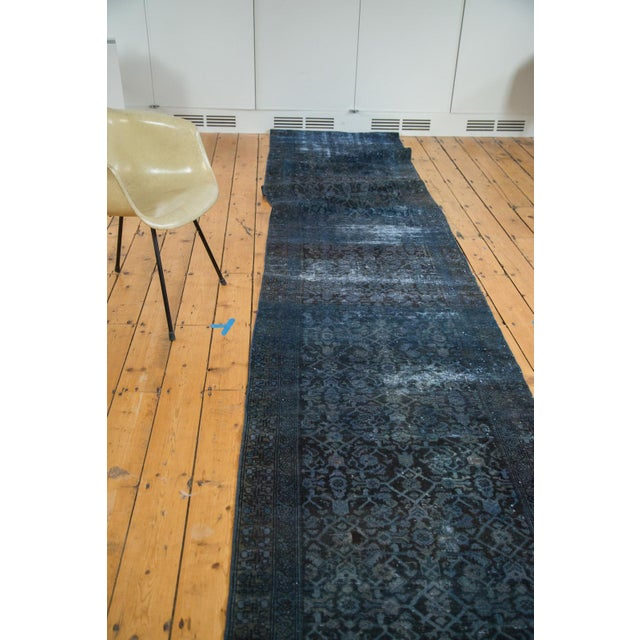 Hand-Knotted Overdyed Runner Rug - 3' x 19' - Image 7 of 10