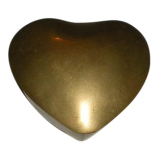 Vintage Brass Heart Box