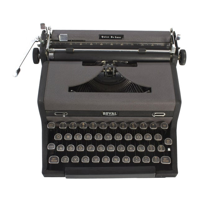 Royal Quiet DeLuxe Typewriter - Image 1 of 7