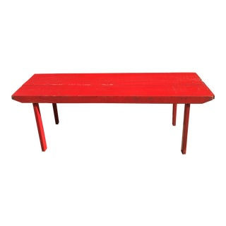 Vintage 1950s Red Banquet Folding Table