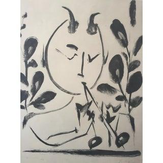 """Pablo Picasso 1948 """"Faune aux Branchages"""" Lithograph"""