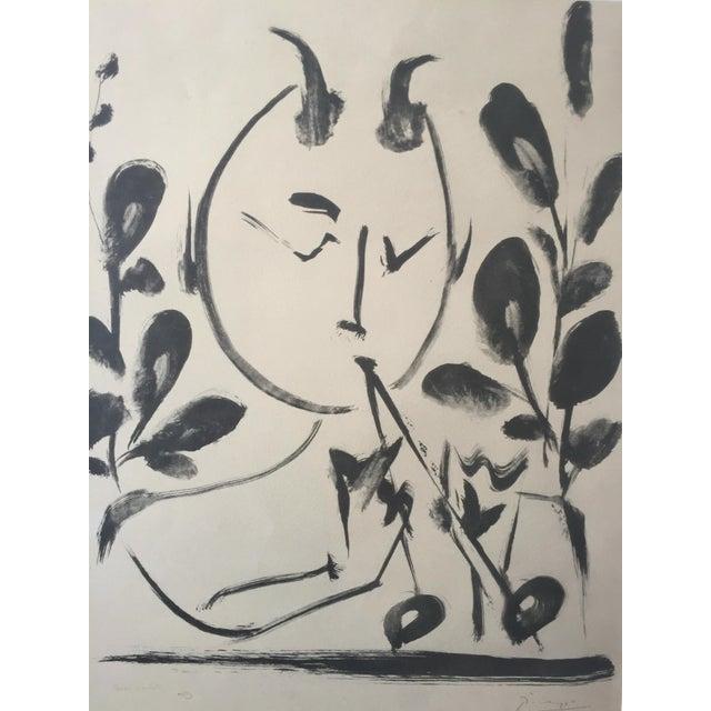 "Pablo Picasso 1948 ""Faune aux Branchages"" Lithograph - Image 1 of 5"