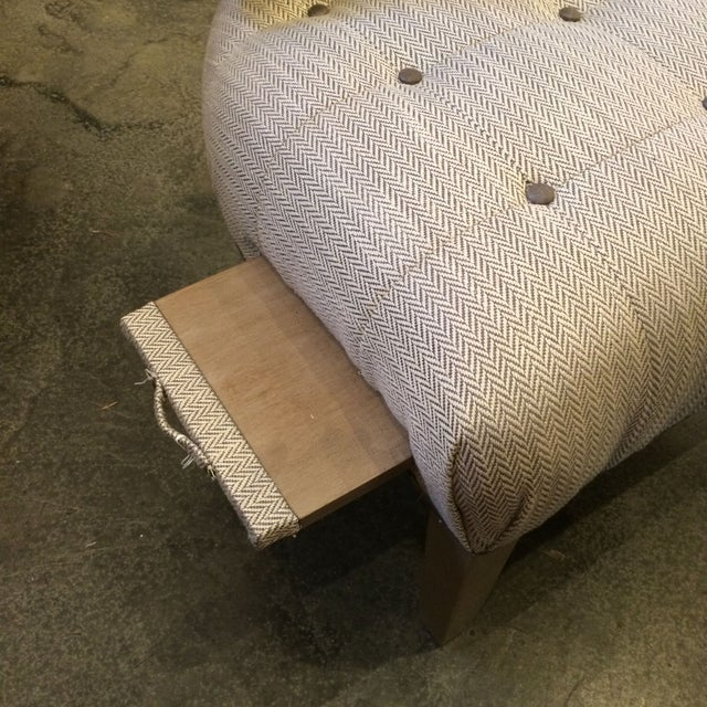 1950s Slipper Chair with Drink Tray - Image 5 of 5