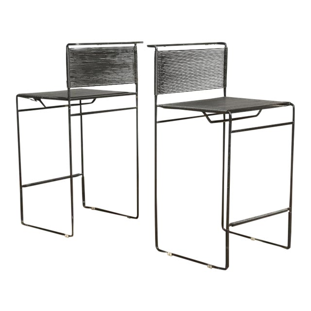 "Giandomenico Belotti for Fly Line ""Spaghetti"" Bar Stools - A Pair - Image 1 of 7"