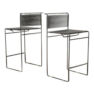 "Giandomenico Belotti for Fly Line ""Spaghetti"" Bar Stools - A Pair"