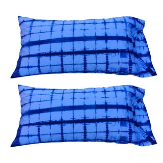Indigo Shibori King Size Pillow Shams - A Pair