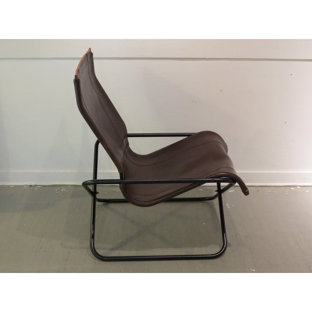 Vintage MCM Uchida Leather Sling Chair - Image 9 of 11