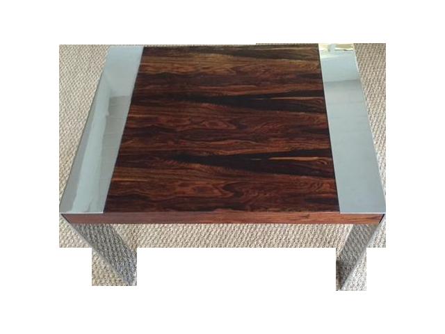 Milo Baughman Chrome U0026 Rosewood Side Table   Image 1 ...