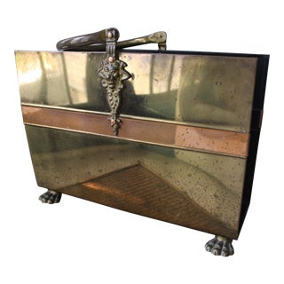 Brass & Copper Firewood Holder