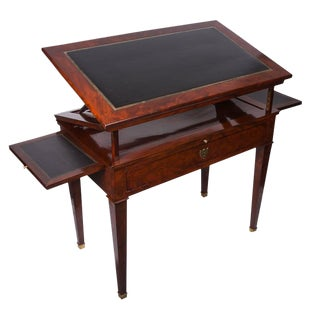 19th Century French Empire Mahogany Architect's Desk