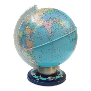 1960s Ohio Art Globe Wonders of the World Base