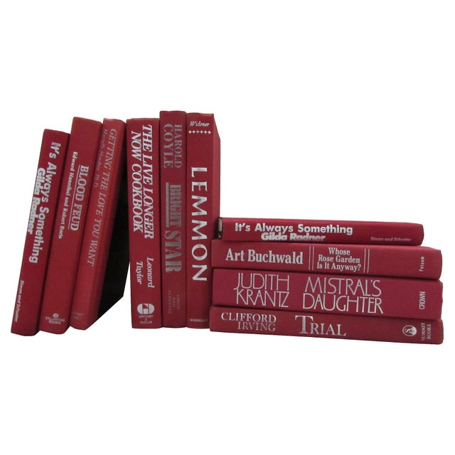Image of Red & Silver Decorative Books - Set of 10